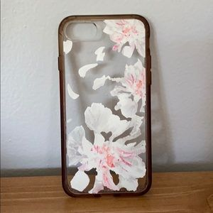 iPhone 5 clear floral case
